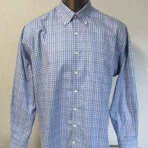 Peter Millar Button Front Shirt Size XL Nanoluxe